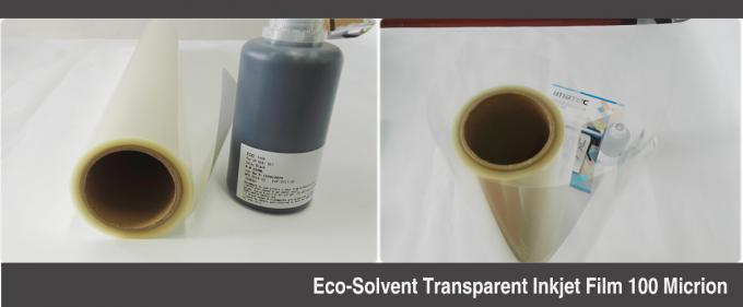 Advertising Eco Solvent Inkjet Media PET Screen Printing Transparency Film 100 Micron