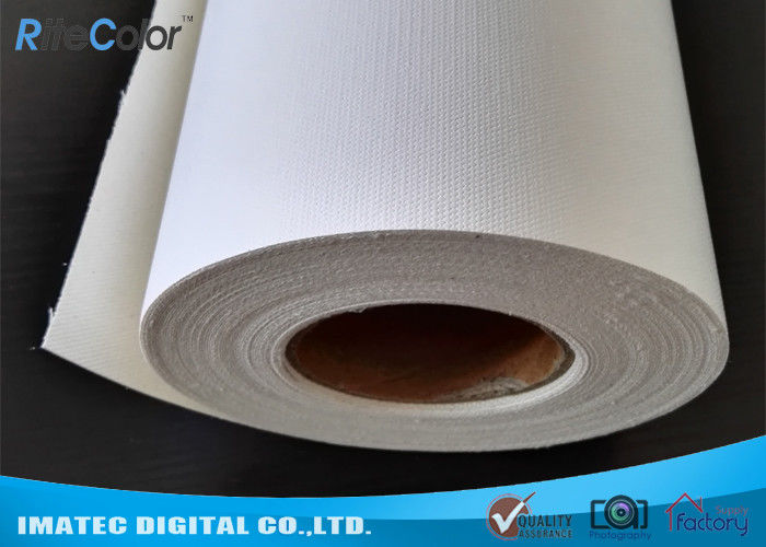 Waterproof White Inkjet Cotton Canvas Roll Matte 410gsm For Pigment / Dye Ink