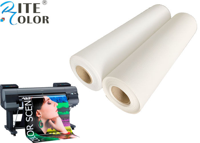 "24"" 36"" Waterproof 260gsm Polyester Canvas Rolls Fine Art Canvas Roll For Inkjet Printing"