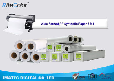Çin Tear Resistance PP Synthetic Paper 8 Mil Water - Based Matte Polypropylene Film Fabrika