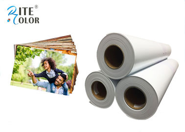 Çin Smooth 190gsm Resin Coated Photo Paper , Large Format Silky Photo Paper For Inkjet Printer Fabrika