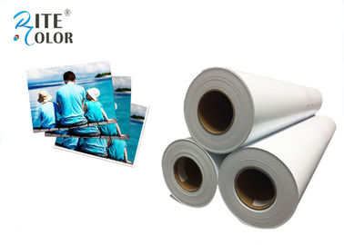 "Çin 42"" Width RC Glossy Photo Paper , White Inkjet Photographic Paper Roll Fabrika"